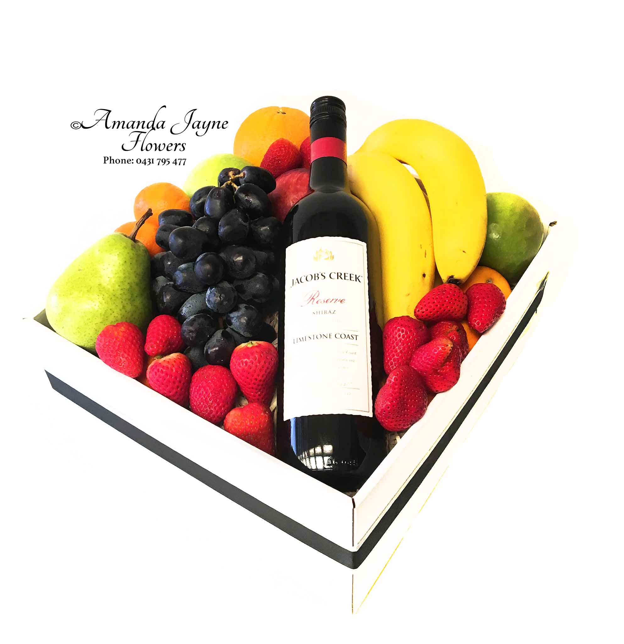 Deluxe Fruit Hamper with wine