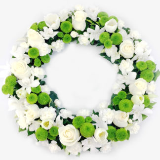 White and Green Wreath